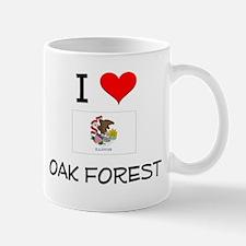 I Love OAK FOREST Illinois Mugs