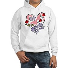 Valentine Heart with Butterfly Hoodie