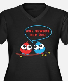 Owl always luv you Plus Size T-Shirt