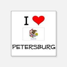 I Love PETERSBURG Illinois Sticker
