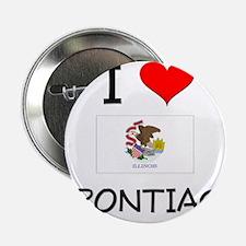 """I Love PONTIAC Illinois 2.25"""" Button"""