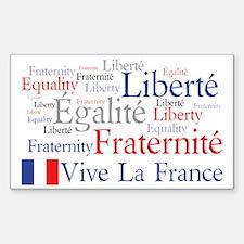 Vive La France Sticker (Rectangle)