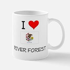 I Love RIVER FOREST Illinois Mugs