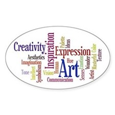 Artists Word Cloud, Creativity, Exp Decal