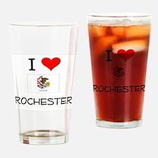 I Love ROCHESTER Illinois Drinking Glass