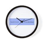 Knitter In Training Wall Clock