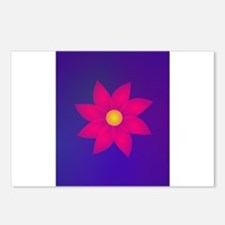 Red Flower in Space Postcards (Package of 8)