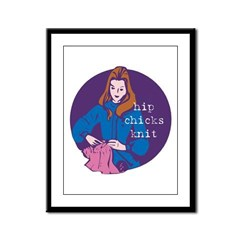 Hip Chicks Knit Framed Panel Print