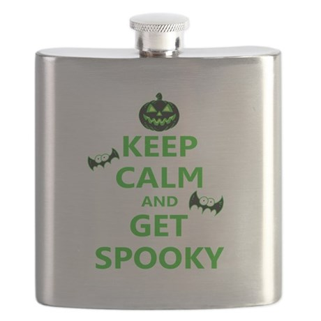 Keep Calm and Get Spooky Flask