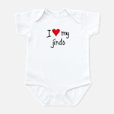 I LOVE MY Jindo Infant Bodysuit