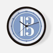 Alto Clef Blue Wall Clock