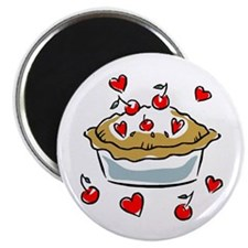 I Love (Heart) Cherry Pie Magnet