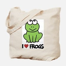 I Love Frogs Tote Bag