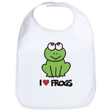 I Love Frogs Bib