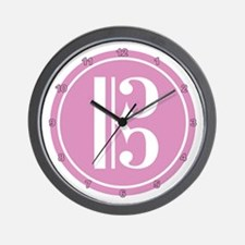 Alto Clef Pink Wall Clock