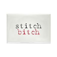 Stitch Bitch Rectangle Magnet