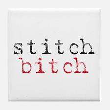 Stitch Bitch Tile Coaster