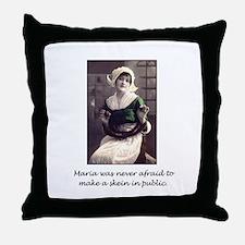 Make a Skein in Public Throw Pillow