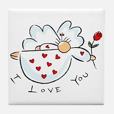 I love you Angel Tile Coaster