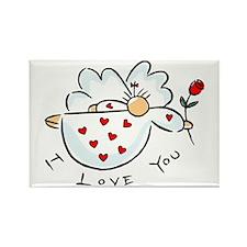 I love you Angel Rectangle Magnet