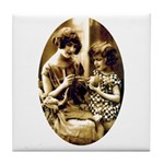 Mother & Daughter Knitting Tile Coaster