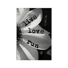 Live Love Run by Vetro Jewelry &  Rectangle Magnet