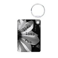 Live Love Run by Vetro Jew Keychains
