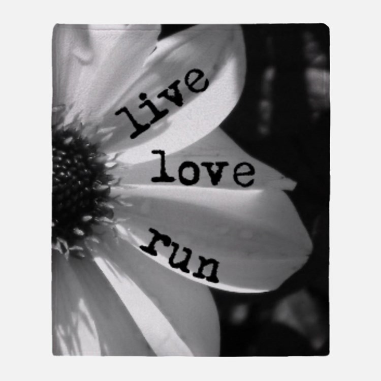 Live Love Run by Vetro Jewelry & Des Throw Blanket