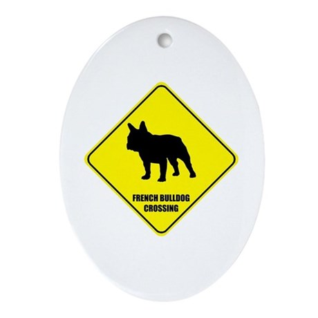 Bulldog Crossing Oval Ornament