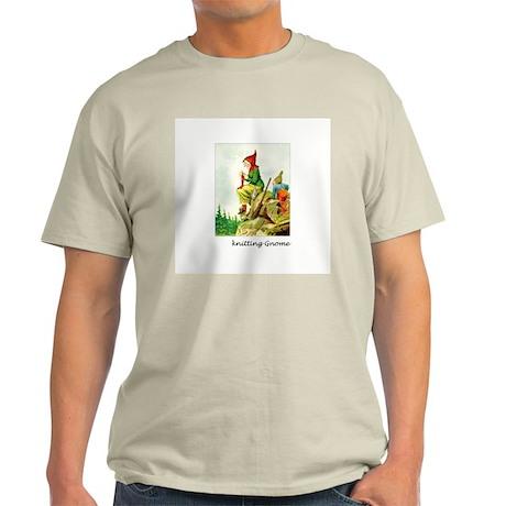 Knitting Gnome Ash Grey T-Shirt