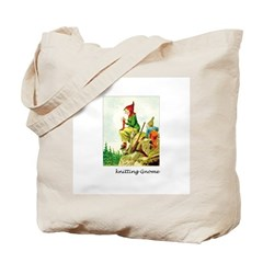 Knitting Gnome Tote Bag