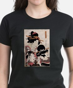 Ukiyoe Geisha Night Out Ash Grey T-Shirt