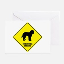 Goldendoodle Crossing Greeting Cards (Pk of 10