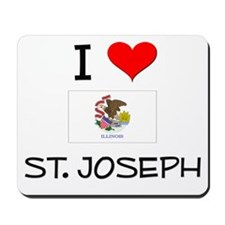 I Love ST. JOSEPH Illinois Mousepad