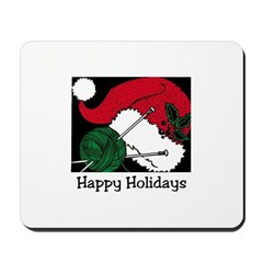 Knitting - Happy Holidays Mousepad