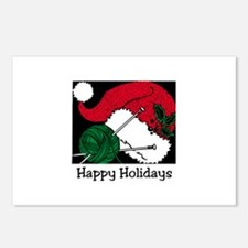 Knitting - Happy Holidays Postcards (Package of 8)