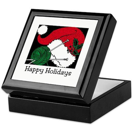 Knitting - Happy Holidays Keepsake Box