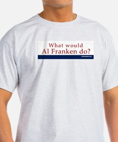 Ash Grey T-Shirt: Al Franken What