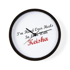 In Love with Keisha Wall Clock