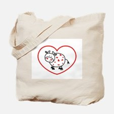 lil love cow Tote Bag