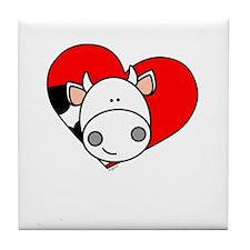 Love Cow Tile Coaster