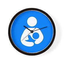 Cute Breastfeeding symbol Wall Clock