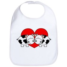 Love Cows (red) Bib