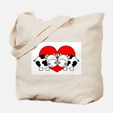 Love Cows (red) Tote Bag