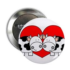 """Love Cows (red) 2.25"""" Button (10 pack)"""