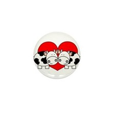 Love Cows (red) Mini Button (100 pack)