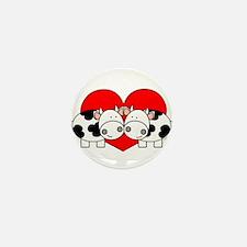 Love Cows (red) Mini Button