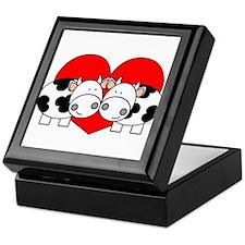 Love Cows (red) Keepsake Box