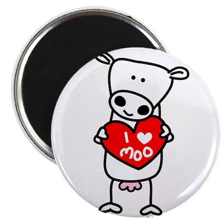 I Love Moo Magnet