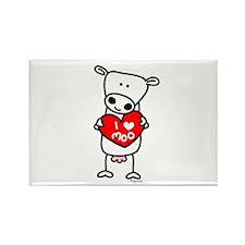 I Love Moo Rectangle Magnet (100 pack)